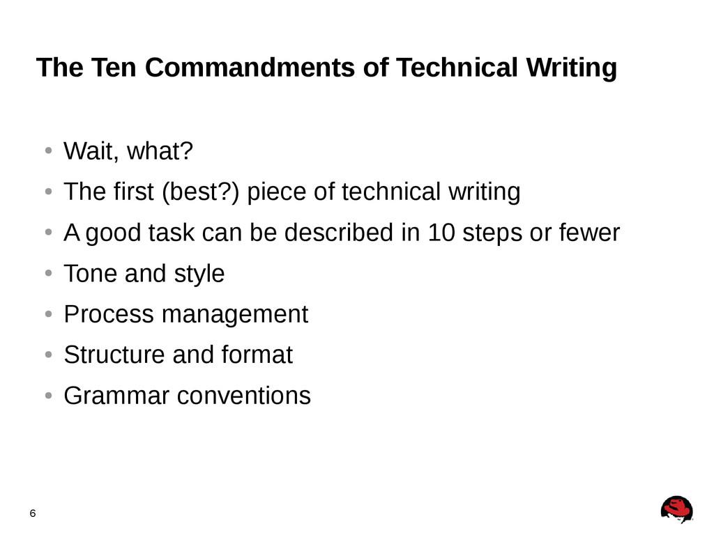 6 The Ten Commandments of Technical Writing ● W...