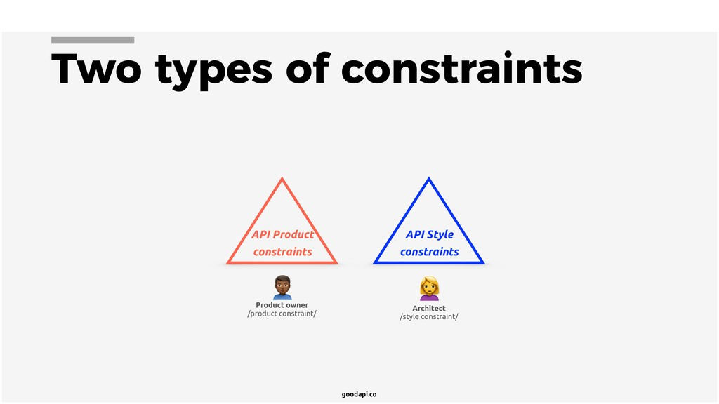 goodapi.co Two types of constraints API Product...