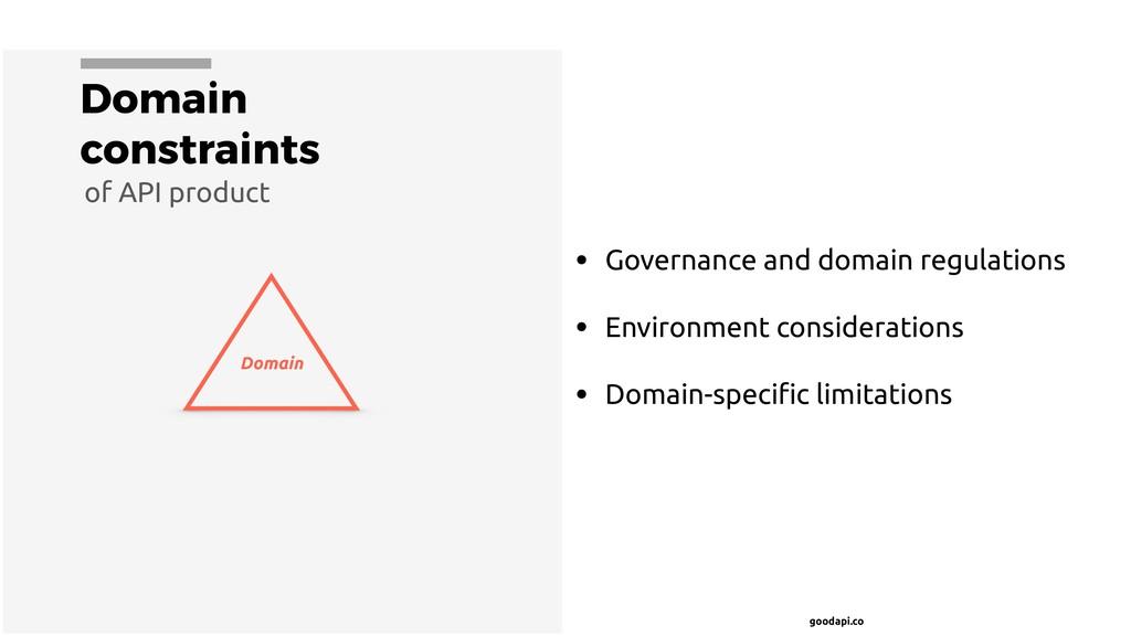 goodapi.co Domain constraints • Governance and ...