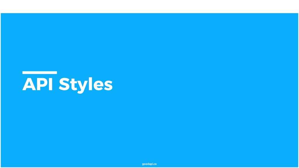 goodapi.co API Styles
