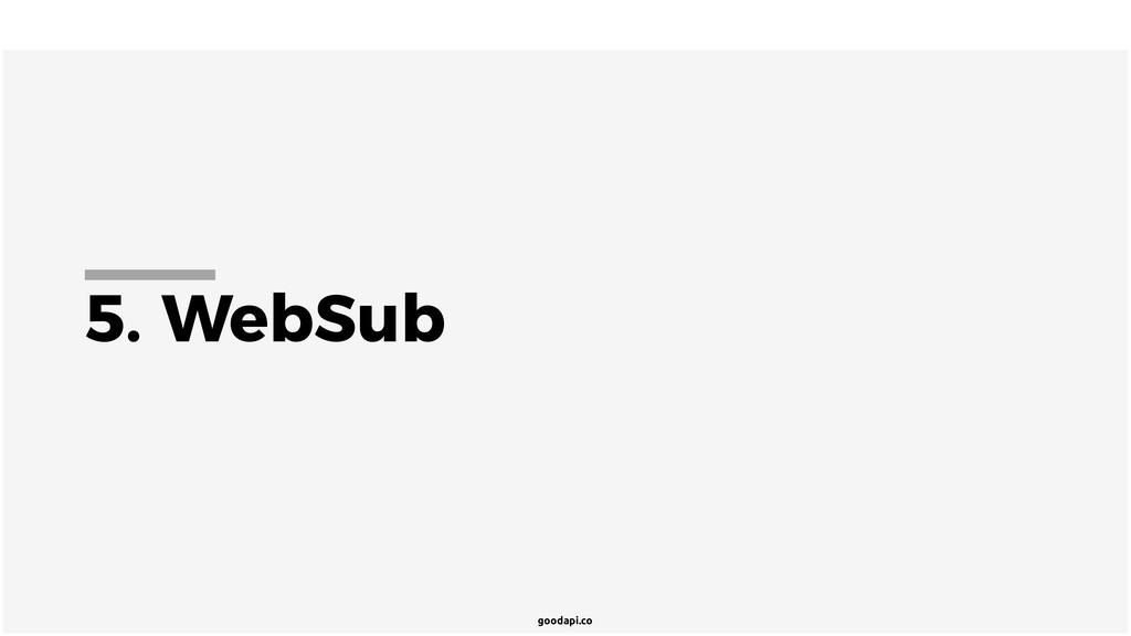 goodapi.co 5. WebSub