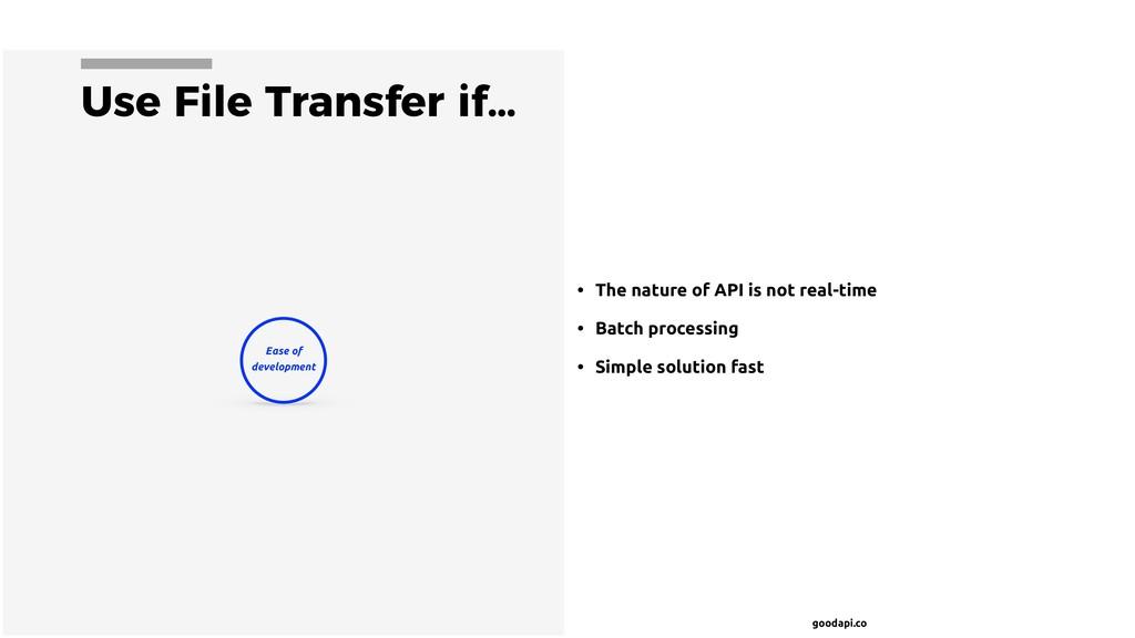 goodapi.co Use File Transfer if… • The nature o...