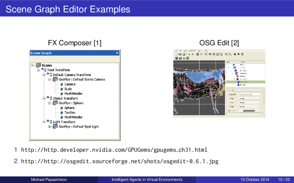 Scene Graph Editor Examples FX Composer [1] OSG...