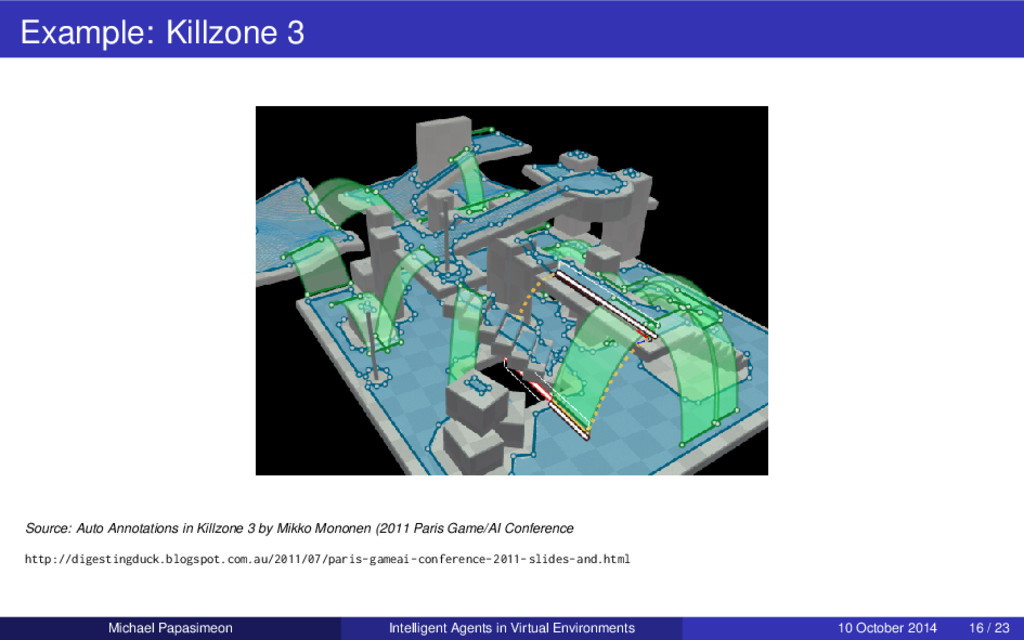 Example: Killzone 3 Source: Auto Annotations in...