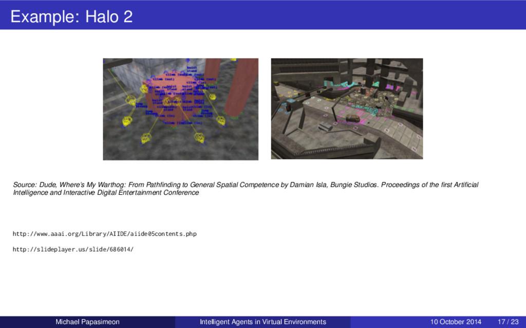 Example: Halo 2 Source: Dude, Where's My Wartho...