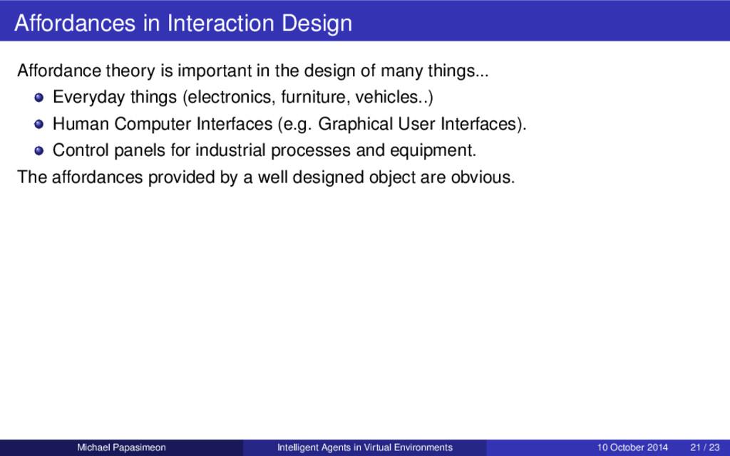Affordances in Interaction Design Affordance th...