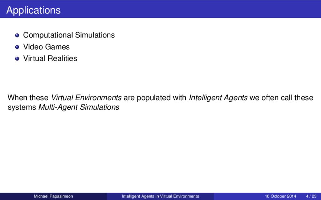 Applications Computational Simulations Video Ga...