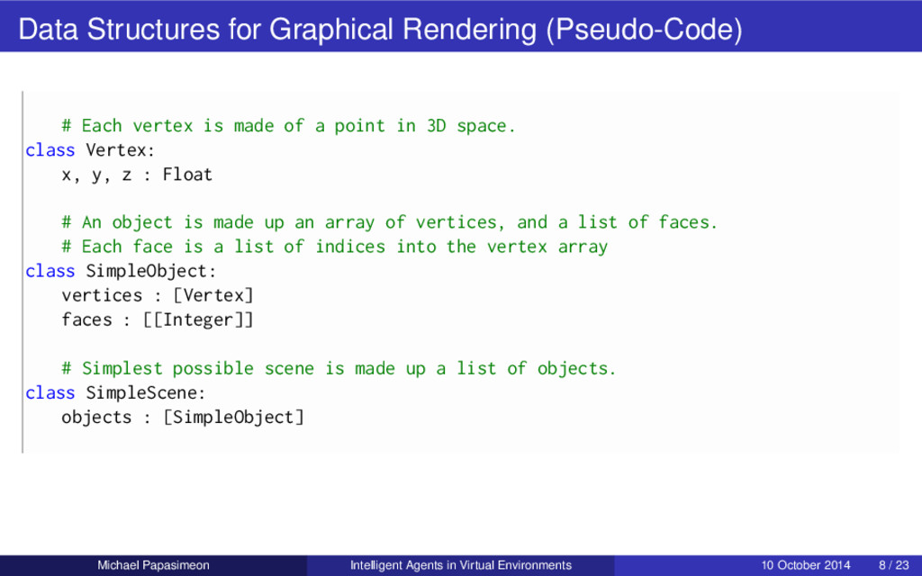 Data Structures for Graphical Rendering (Pseudo...