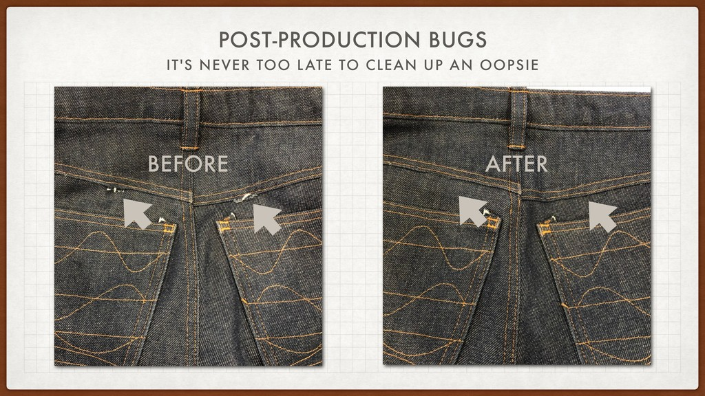 POST-PRODUCTION BUGS IT'S NEVER TOO LATE TO CLE...