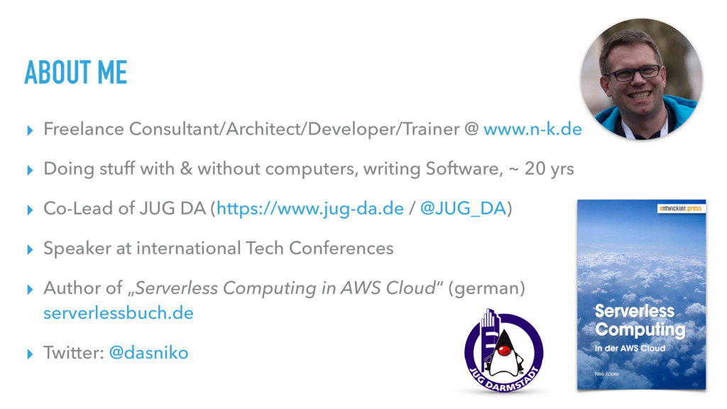 ABOUT ME ▸ Freelance Consultant/Architect/Devel...