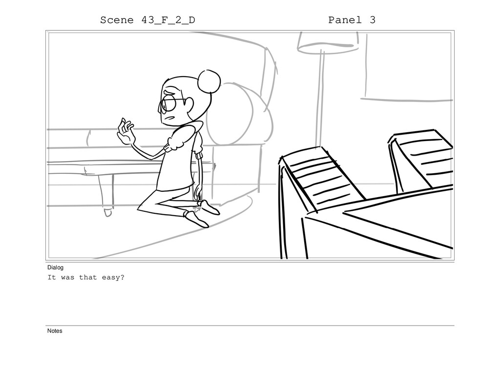 Scene 43_F_2_D Panel 3 Dialog It was that easy?...