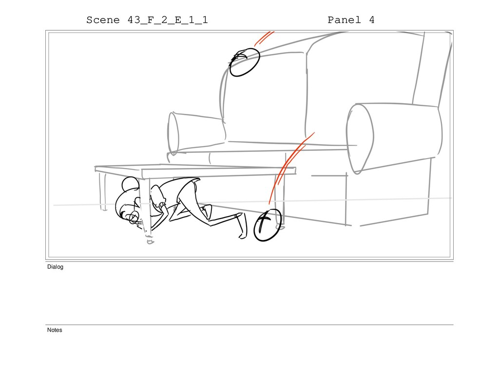 Scene 43_F_2_E_1_1 Panel 4 Dialog Notes