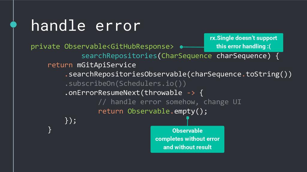 handle error private Observable<GitHubResponse>...