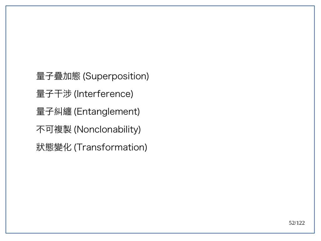 52/122 量子疊加態 (Superposition) 量子干涉 (Interference...