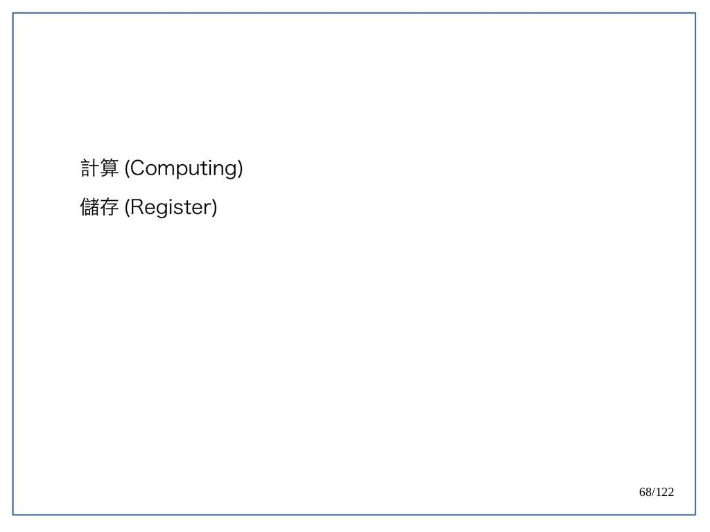 68/122 計算 (Computing) 儲存 (Register)