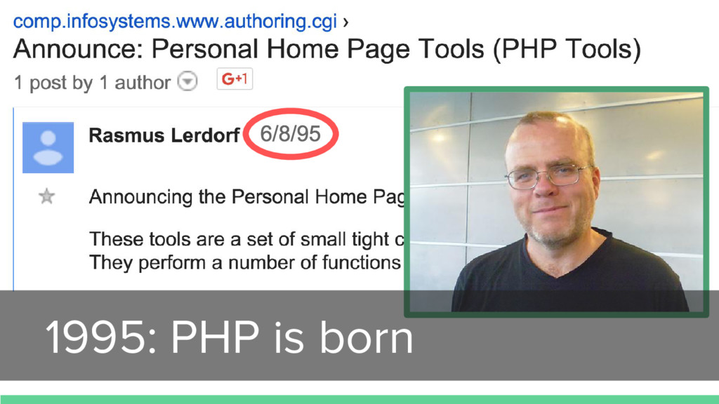 1995: PHP is born