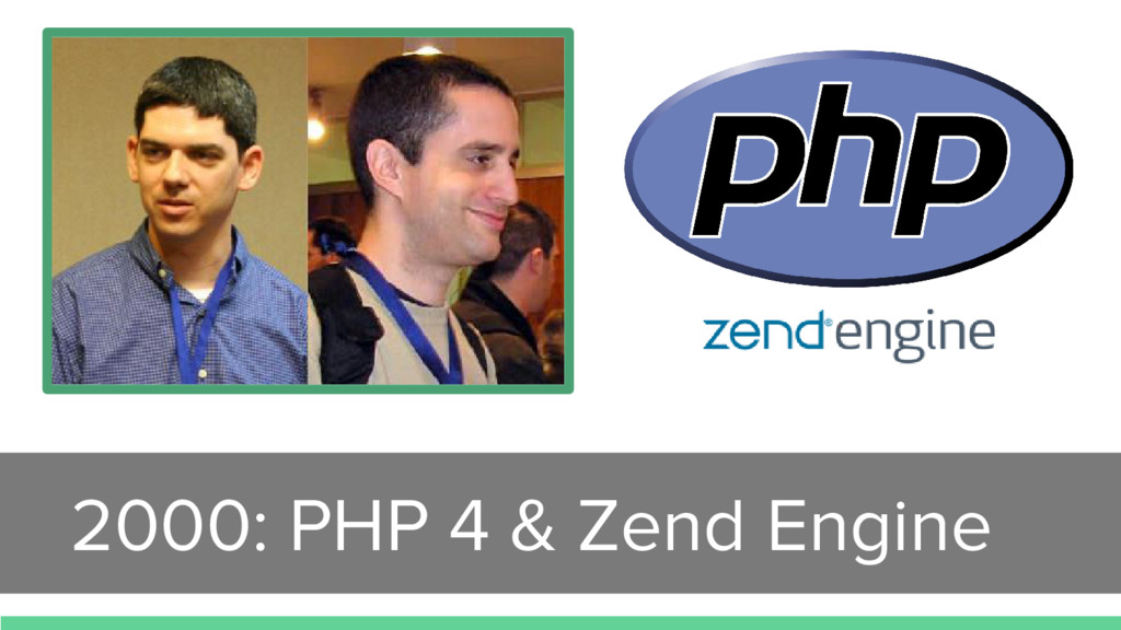 2000: PHP 4 & Zend Engine