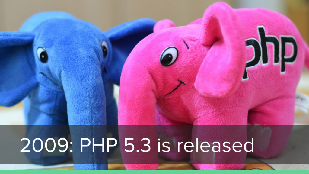 2009: PHP 5.3 is released