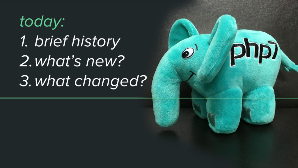 today: 1. brief history 2.what's new? 3.what ch...