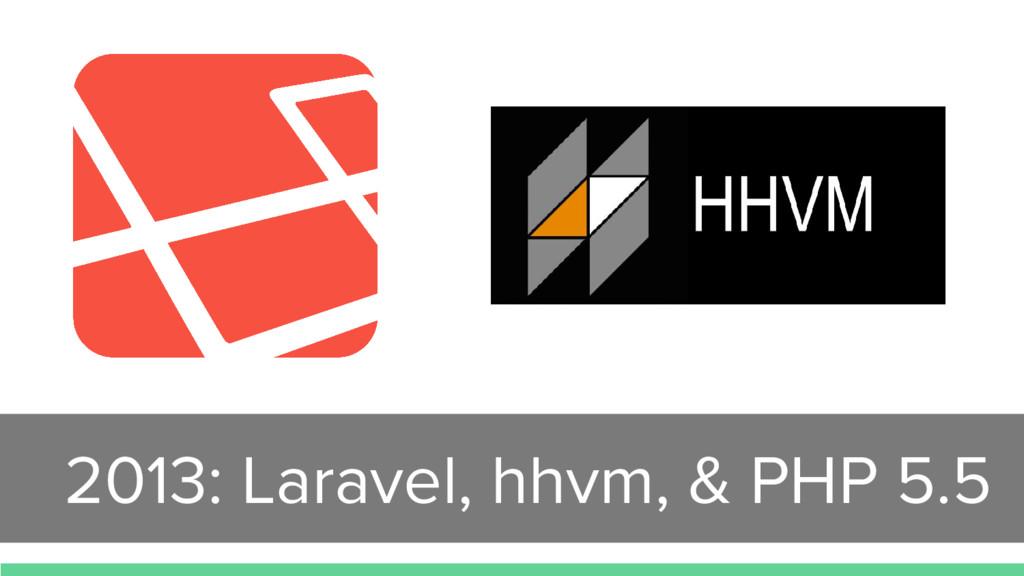 2013: Laravel, hhvm, & PHP 5.5