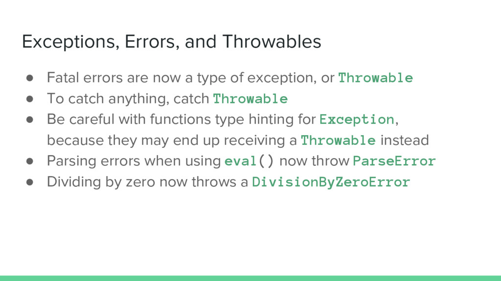 Exceptions, Errors, and Throwables ● Fatal erro...