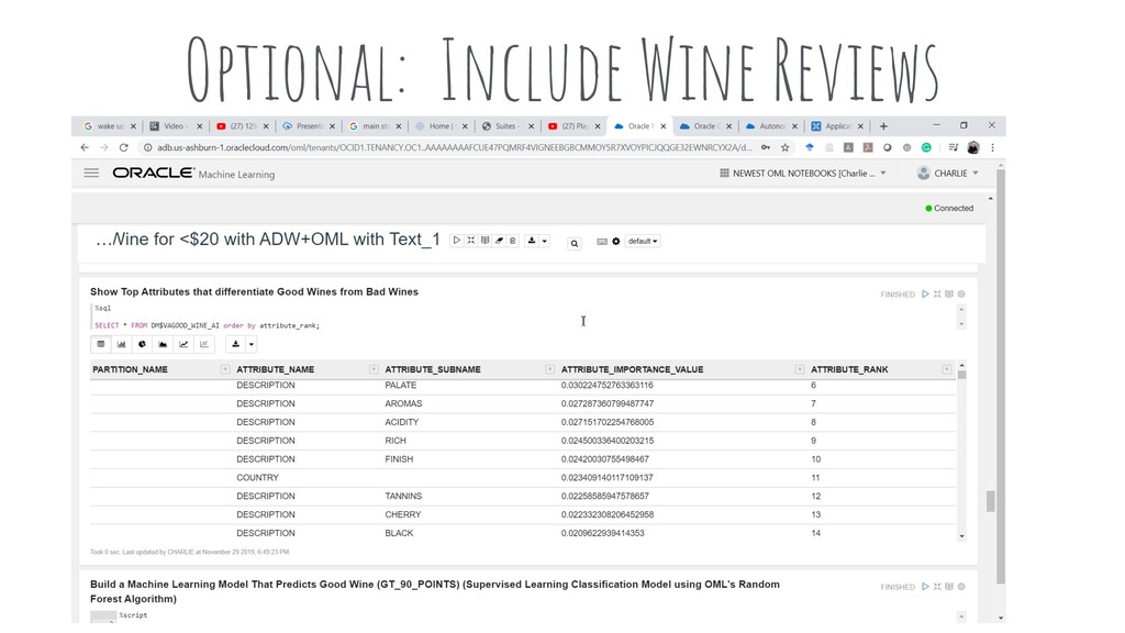 Optional: Include Wine Reviews