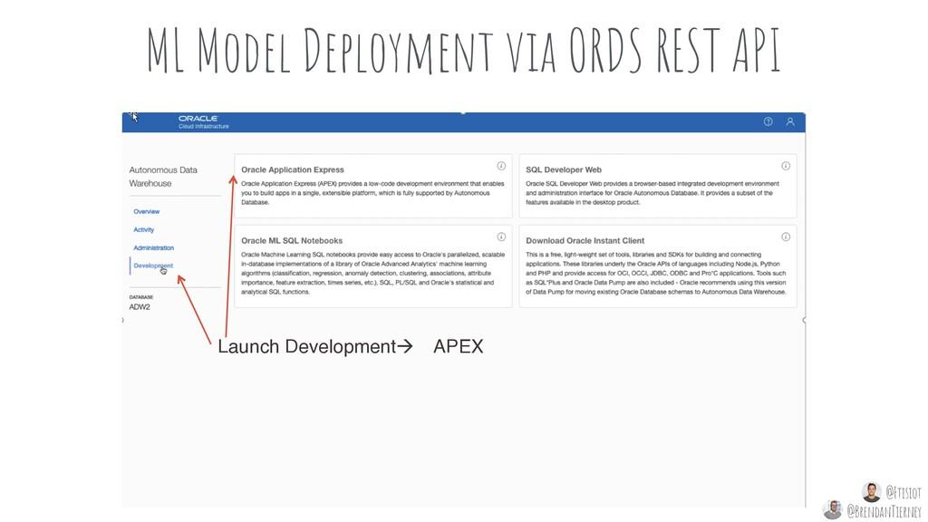 ML Model Deployment via ORDS REST API Launch De...