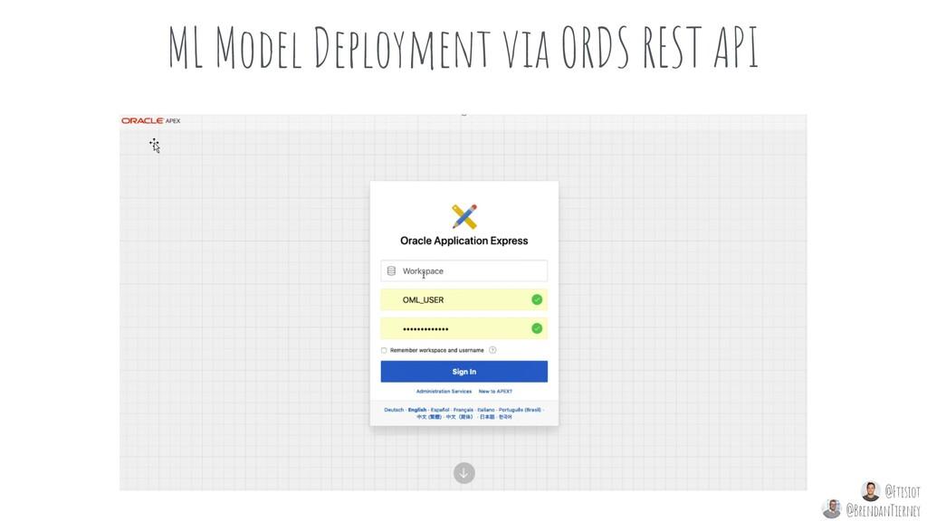 ML Model Deployment via ORDS REST API @Ftisiot ...