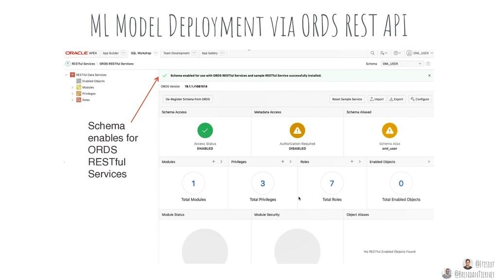 ML Model Deployment via ORDS REST API Schema en...