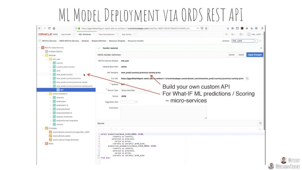 ML Model Deployment via ORDS REST API Helpful e...