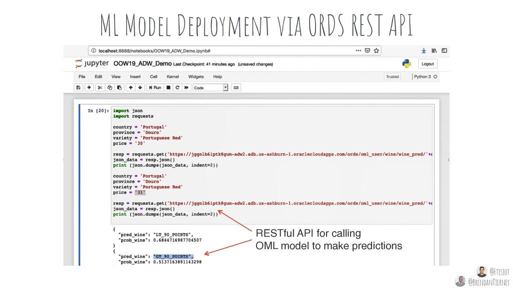 ML Model Deployment via ORDS REST API RESTful A...