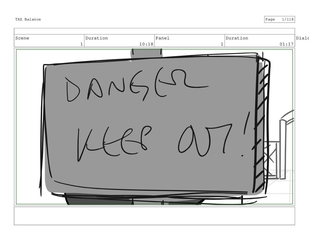 Scene 1 Duration 10:18 Panel 1 Duration 01:17 D...