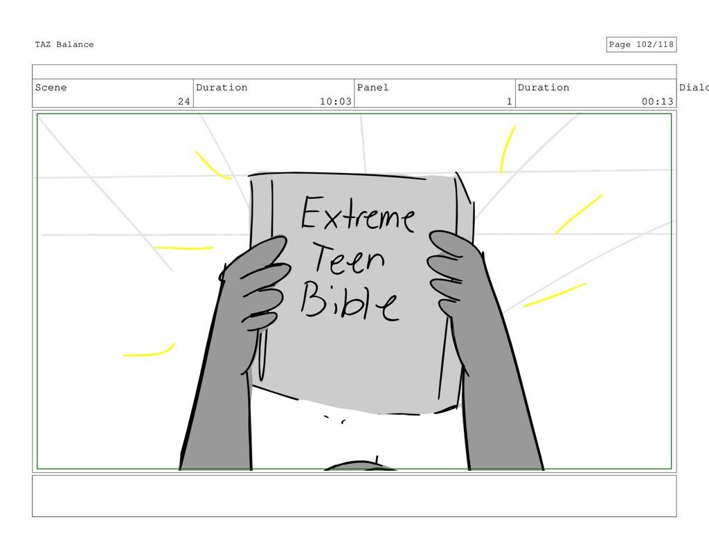 Scene 24 Duration 10:03 Panel 1 Duration 00:13 ...