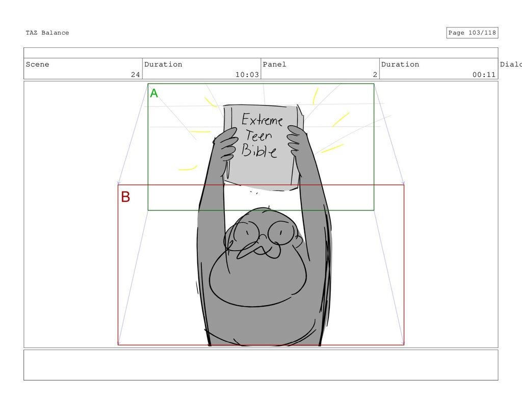 Scene 24 Duration 10:03 Panel 2 Duration 00:11 ...