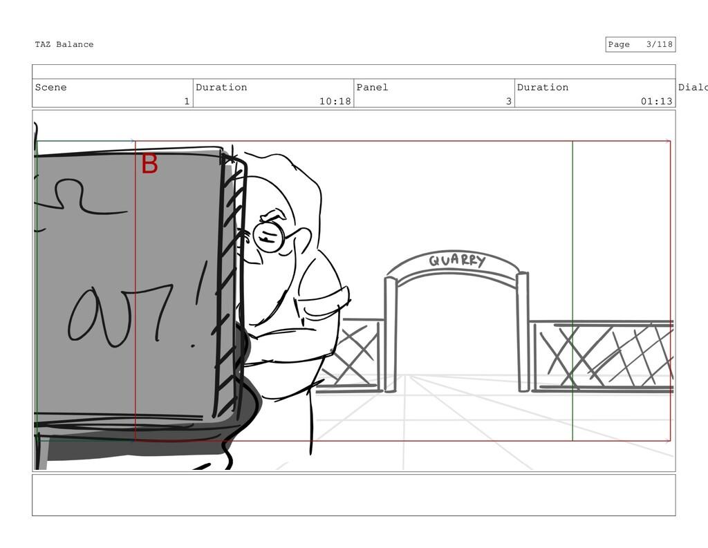 Scene 1 Duration 10:18 Panel 3 Duration 01:13 D...