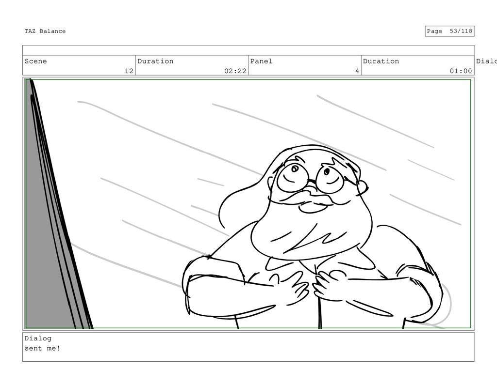 Scene 12 Duration 02:22 Panel 4 Duration 01:00 ...