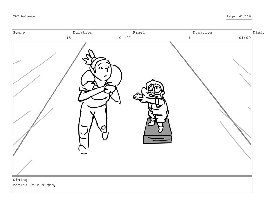 Scene 15 Duration 04:07 Panel 1 Duration 01:00 ...