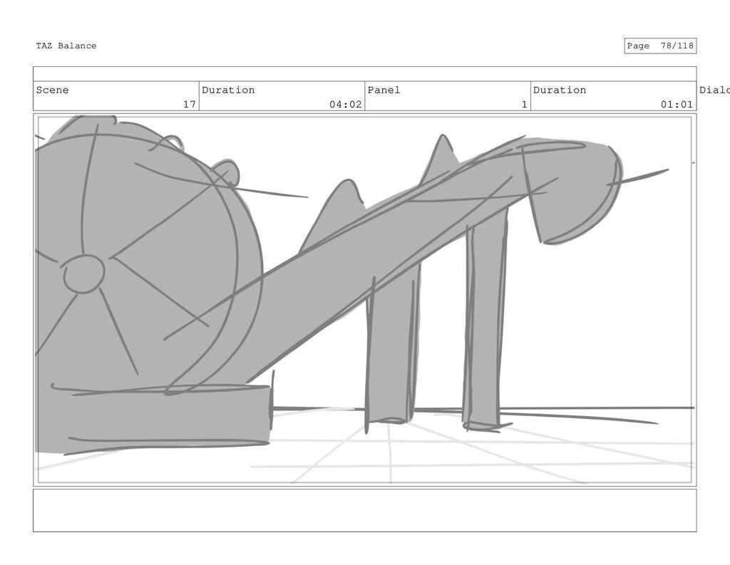 Scene 17 Duration 04:02 Panel 1 Duration 01:01 ...