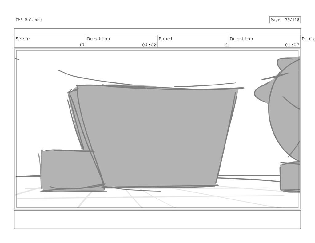 Scene 17 Duration 04:02 Panel 2 Duration 01:07 ...