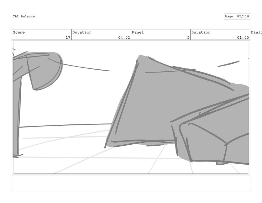 Scene 17 Duration 04:02 Panel 5 Duration 01:00 ...