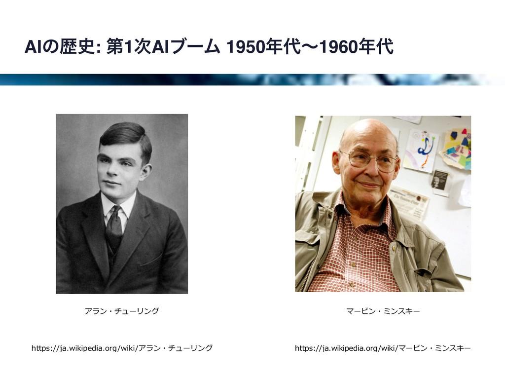 AIͷྺ: ୈ1AIϒʔϜ 1950ʙ1960 https://ja.wikipe...