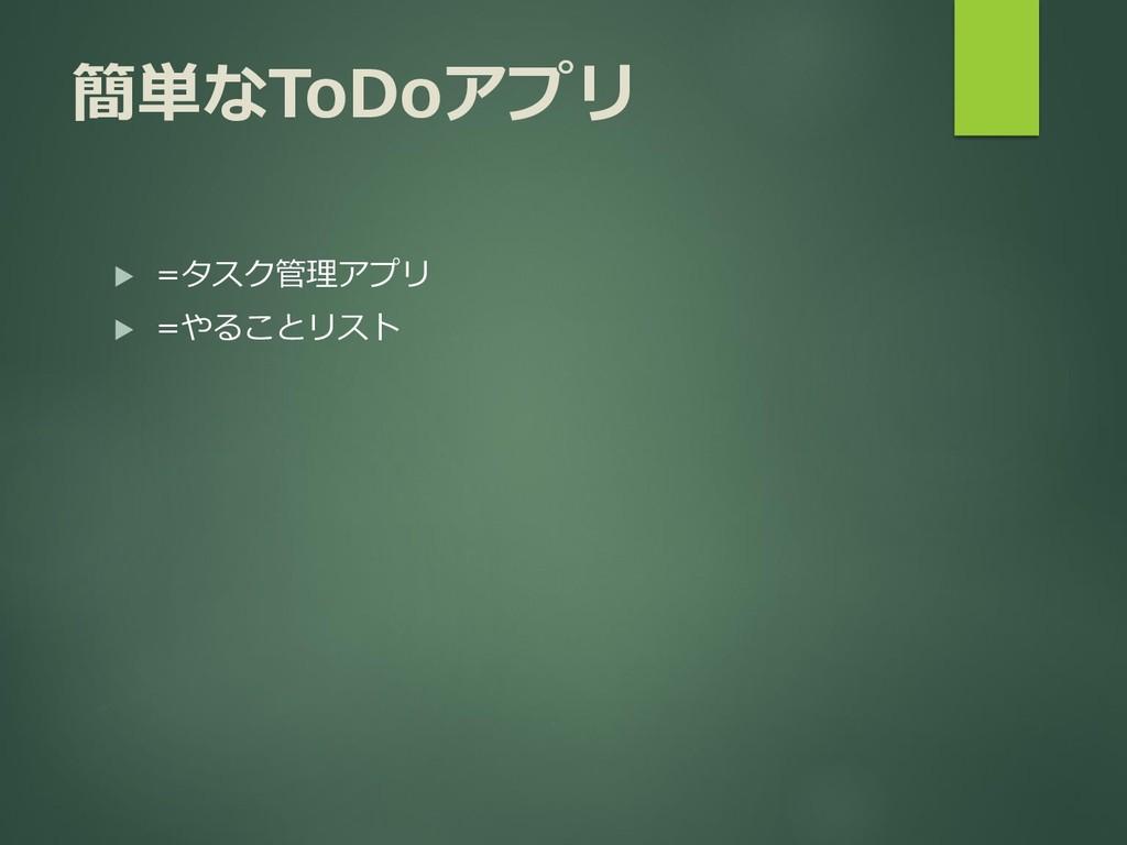 簡単なToDoアプリ  =タスク管理アプリ  =やることリスト