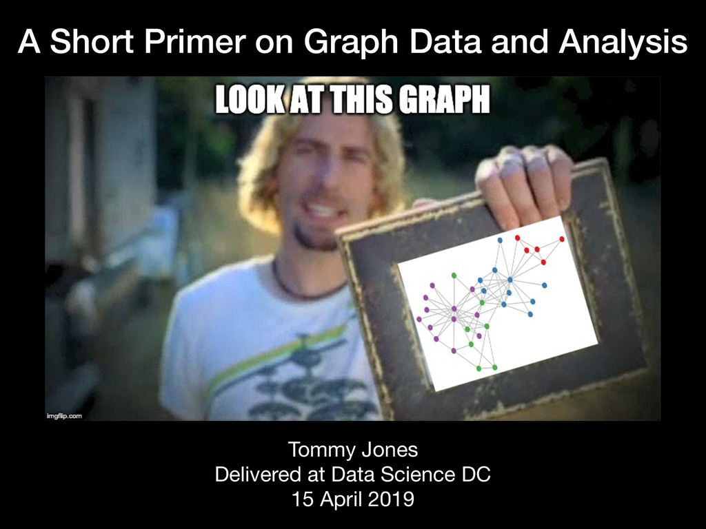 A Short Primer on Graph Data and Analysis Tommy...