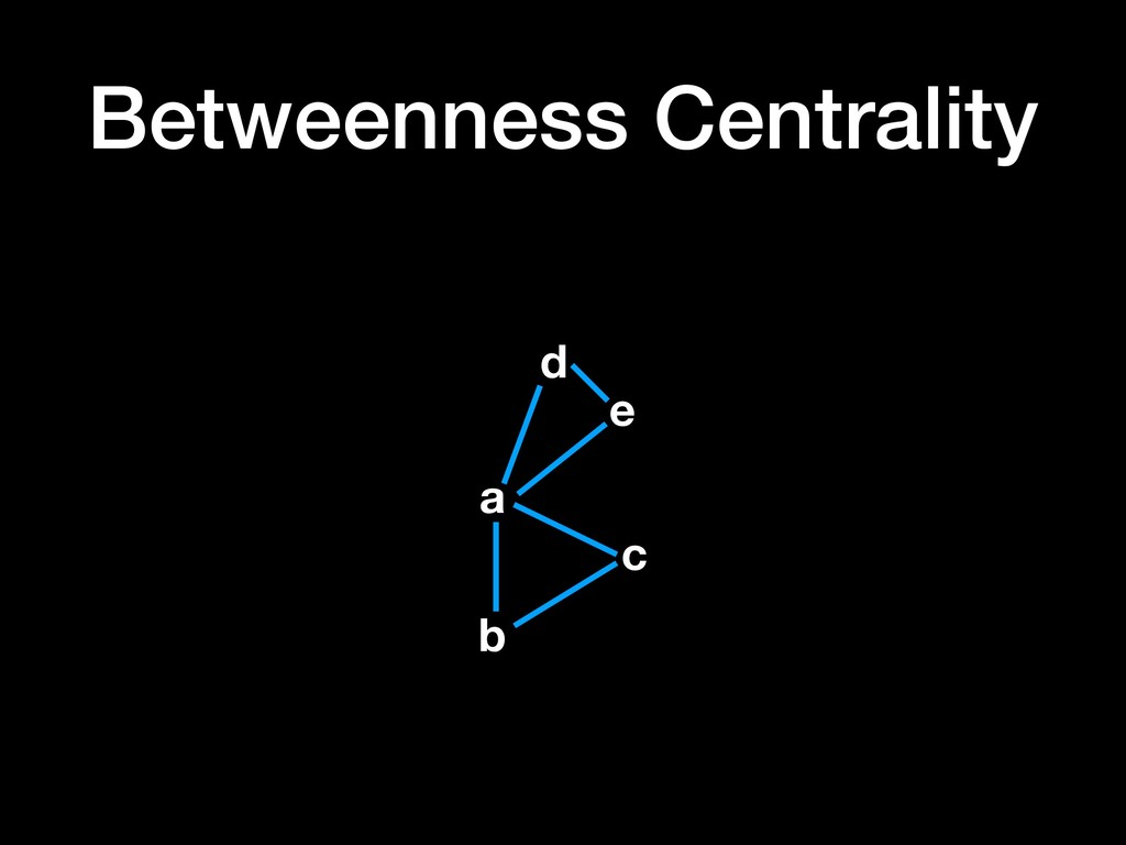 Betweenness Centrality a b c d e