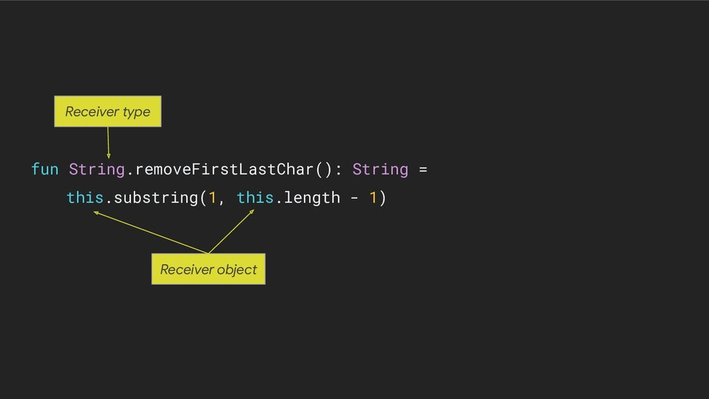 fun String.removeFirstLastChar(): String = this...