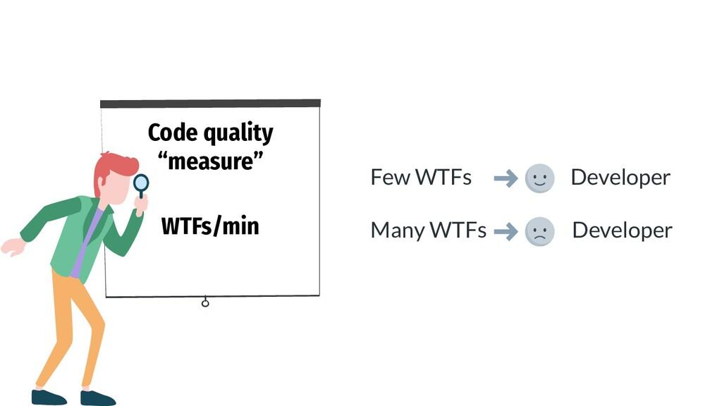 """Code quality """"measure"""" WTFs/min Few WTFs Develo..."""