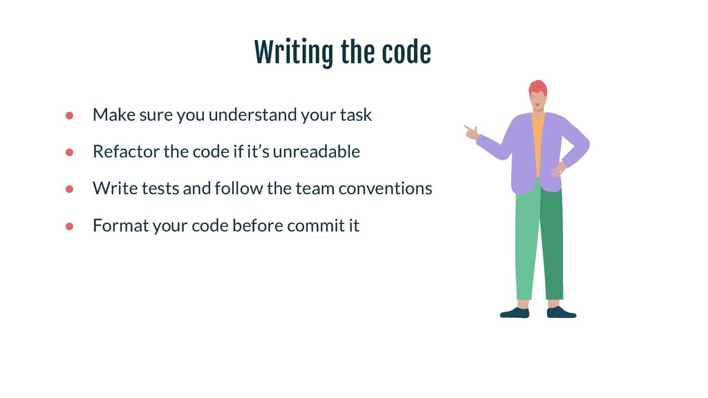 Writing the code ● Make sure you understand you...