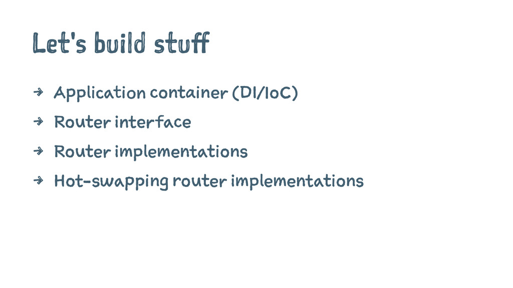 Let's build stuff 4 Application container (DI/I...