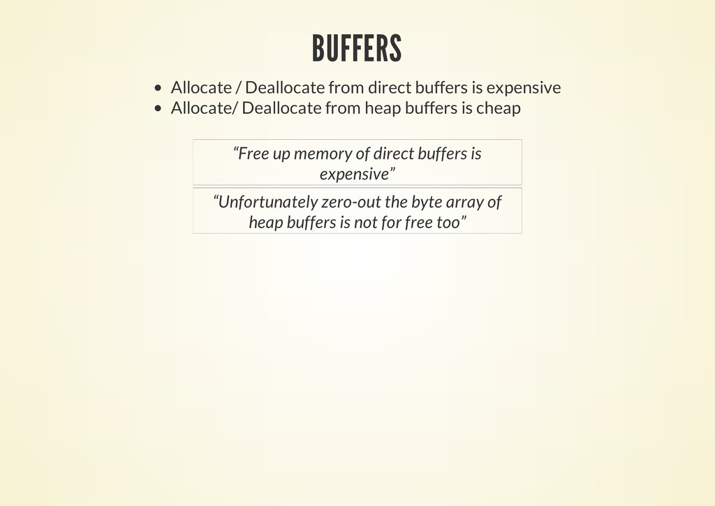 BUFFERS Allocate / Deallocate from direct buffe...