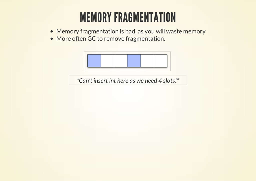 MEMORY FRAGMENTATION Memory fragmentation is ba...